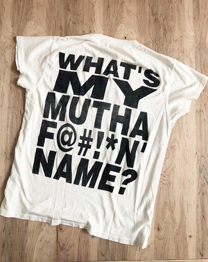 "Snoop Dogg ""Whats My Name"" Tee in Off White"