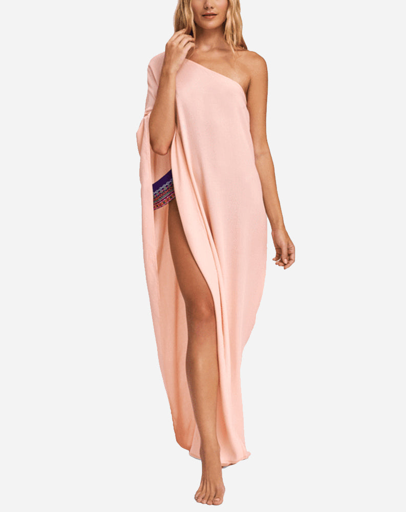 Bali One Shoulder Dress in Rose