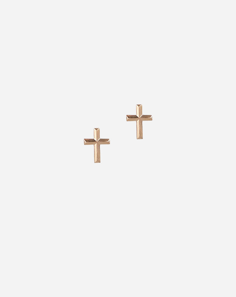 Cross Studs in 14K Gold Fill