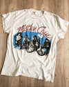 Motley Crue Girls Crew Tee in Off White