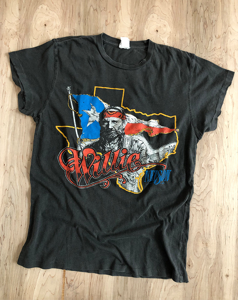 Willie Nelson Canadian Tour Crew Tee in Black Pigment