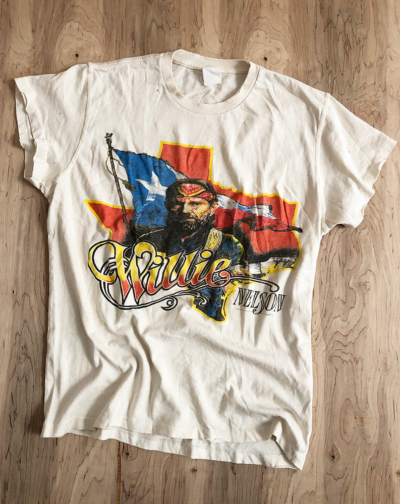 Willie Nelson Canadian Tour Crew Tee in Dirty White