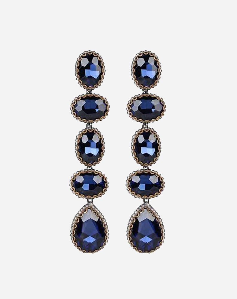 Tyra Earrings in Sapphire
