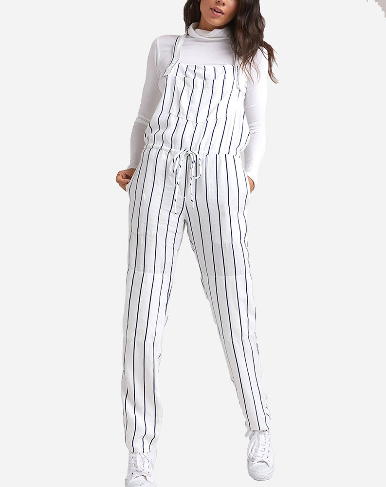 Stripe Overall in Parchment