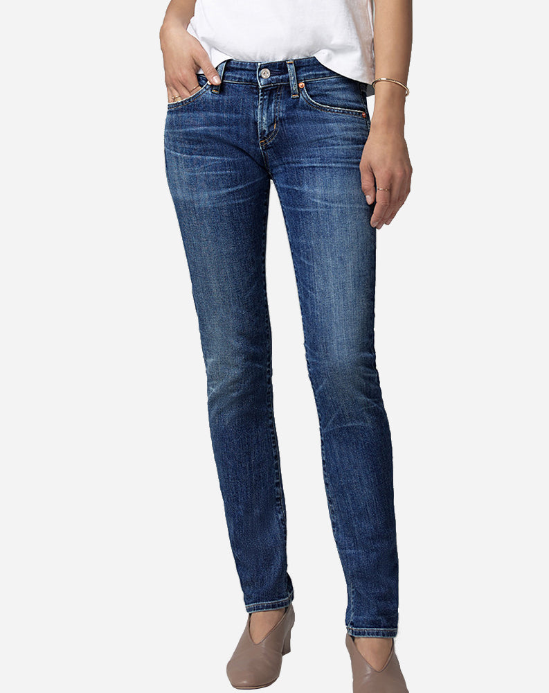 Racer Low Rise Skinny in Caspian