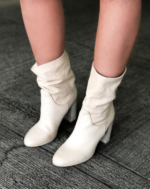 Dakota Heel Boot in Cream