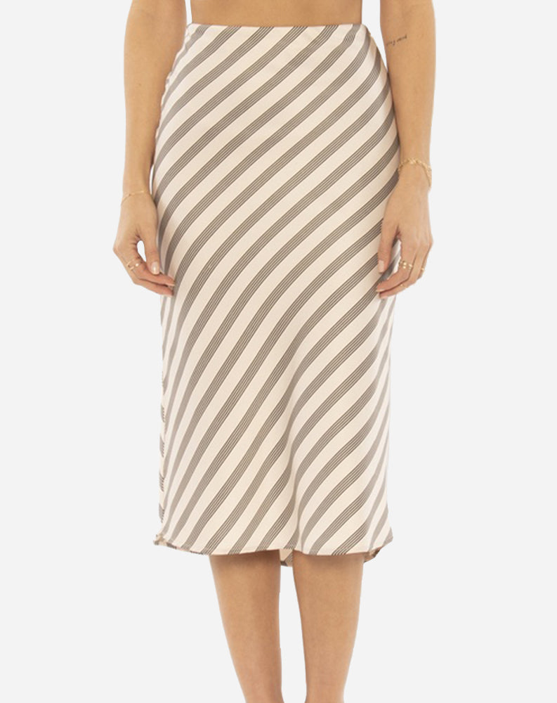 Dani Woven Midi Skirt in Shell