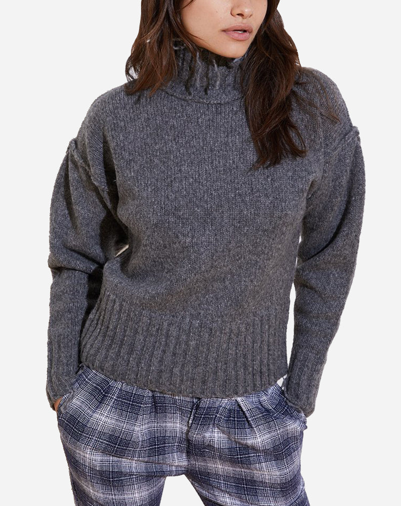Kori Turtleneck Sweater in Charcoal