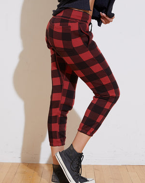 Sayde Slouchy Sweatpants in Red Buffalo