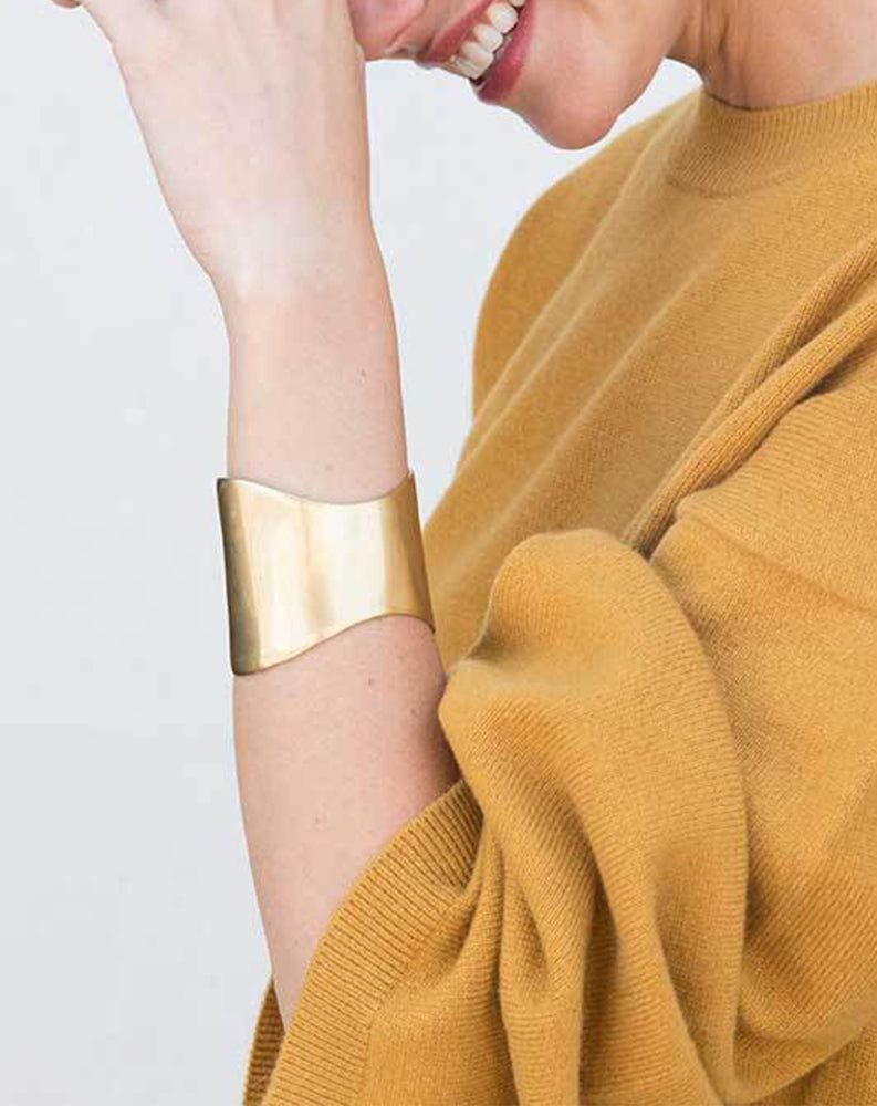 Organic Flex Cuff in Brass