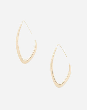 Tulla Outline Threader Earrings in Brass