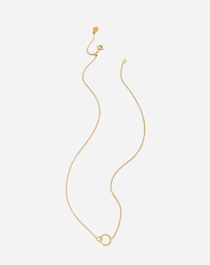 Wilshire Charm Necklace in Gold