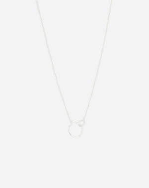Wilshire Charm Necklace in Silver