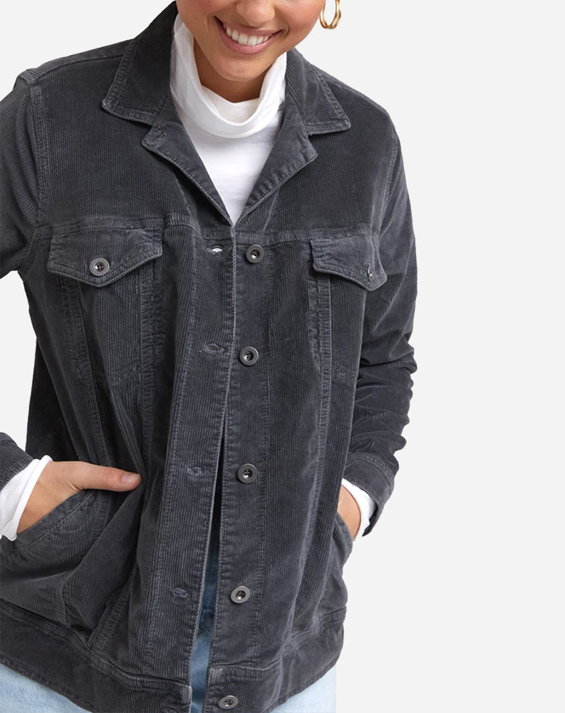 Oversized Trucker Jacket in Space Grey