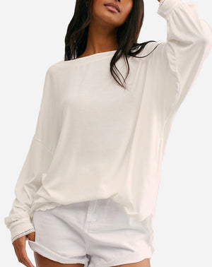 Shimmy Shake Top in Ivory