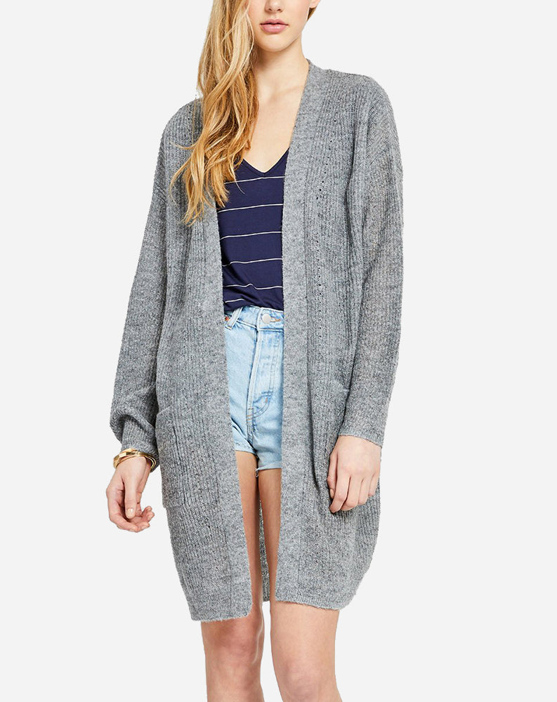 Carrall Cardi in Heather Grey