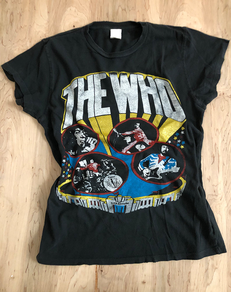 The Who 1982 Crew Tee in Coal Pigment