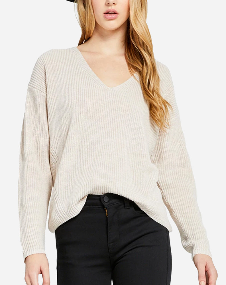 Tucker Sweater in Heather Light Oatmeal