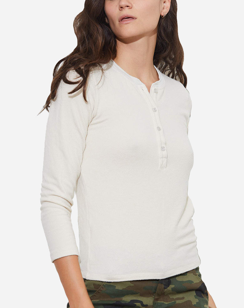 Arley Henley Tee in Parch