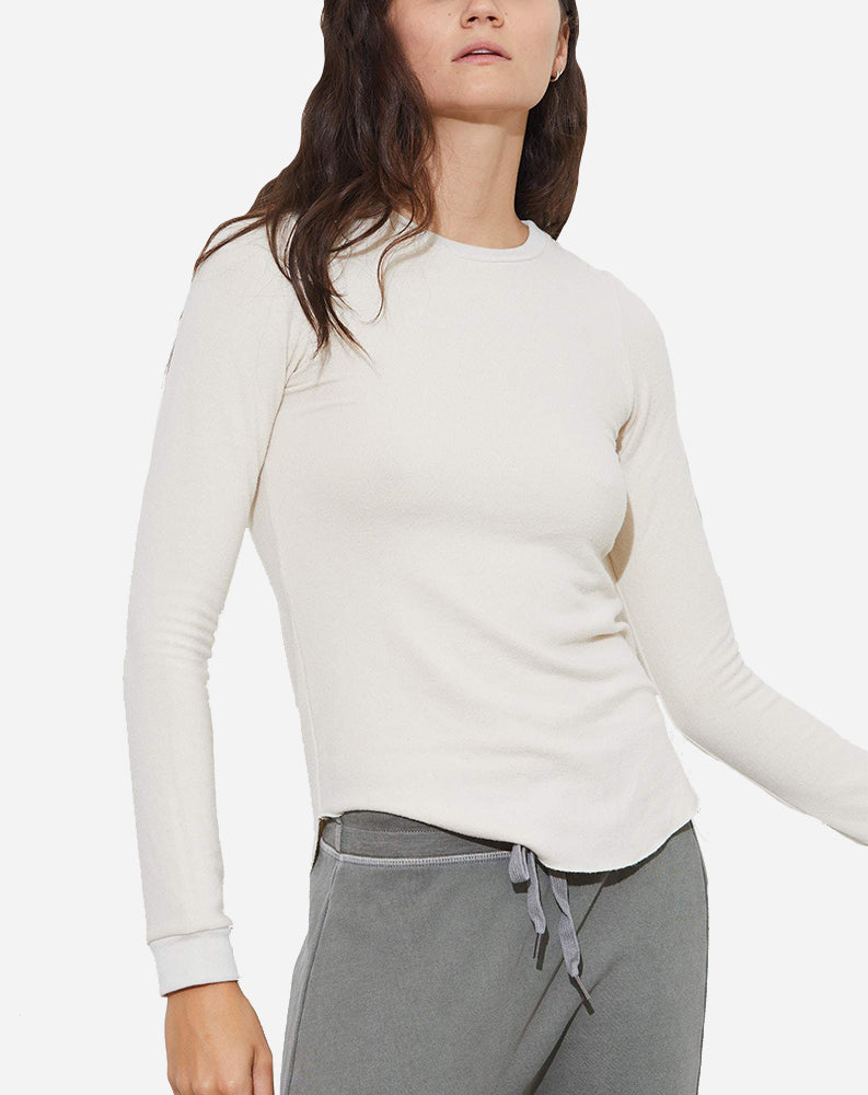 Yulia Long Sleeve Tee in Parch
