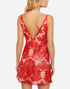 Night Shimmers Mini Dress in Red