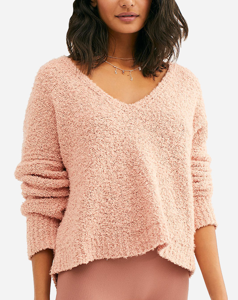 Finders Keepers V neck in Nude Peach