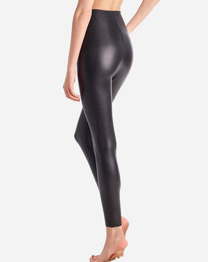 Perfect Control Faux Leather Legging in Black