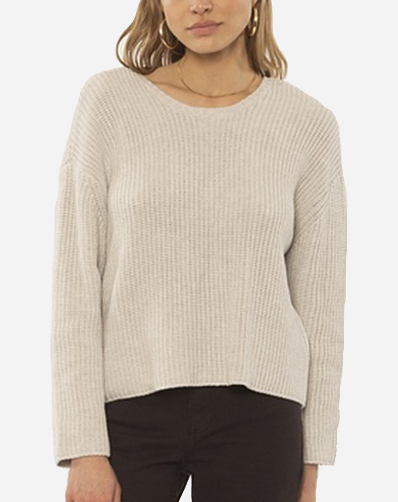 Sunset Road Knit Sweater in Oat
