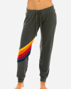 Cross Stripe Womens Sweatpant in Vintage Charcoal