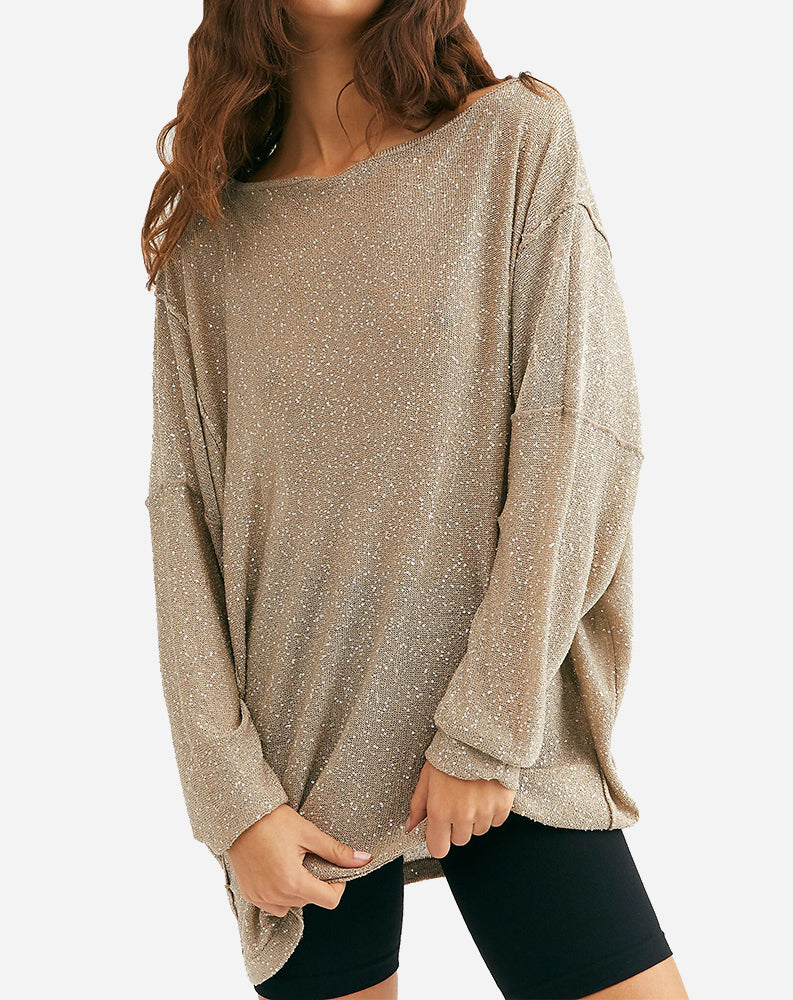 All That Glitters Tunic in Nude