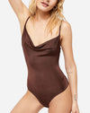 Cowls in the Club Bodysuit in Brown