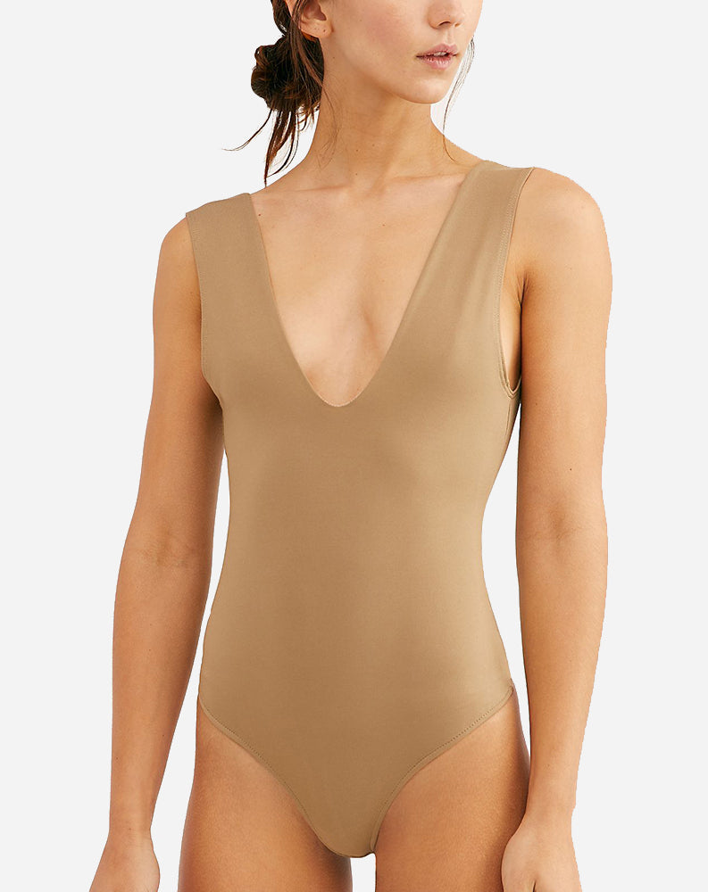 Keep It Sleek Bodysuit in Neutral