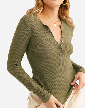 One of the Girls Henley in Army Bloom
