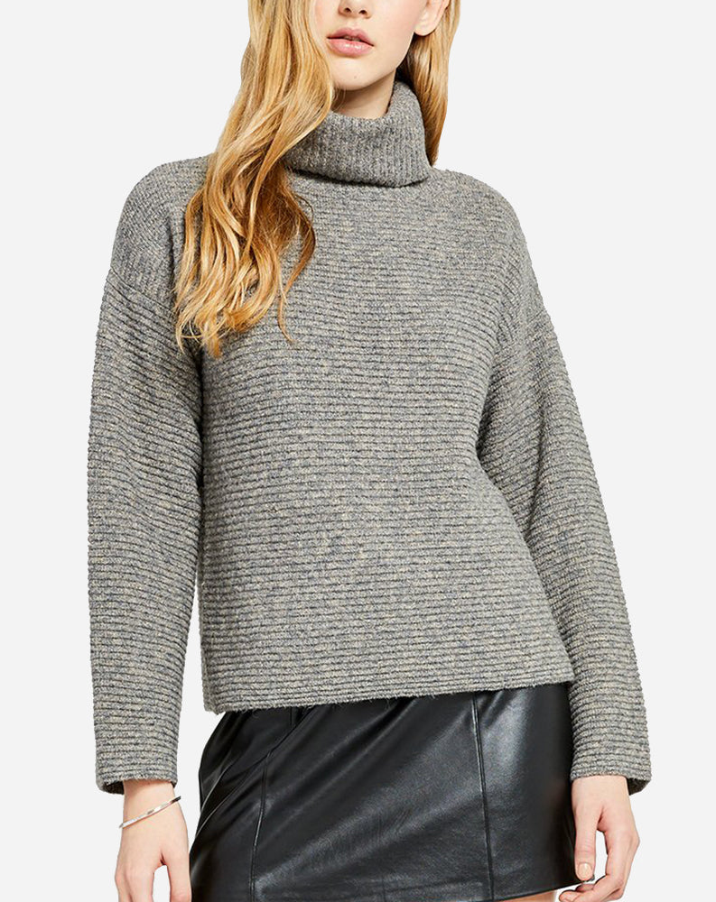Francis Sweater in Heather Stone/Grey