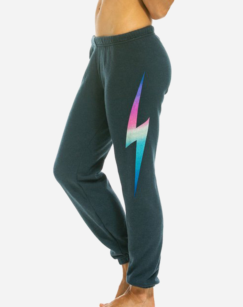 Bolt Women's Sweatpants in Rainbow Pink