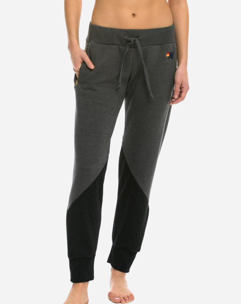 Glider Womens Classic Pants in Vintage Charcoal/Black