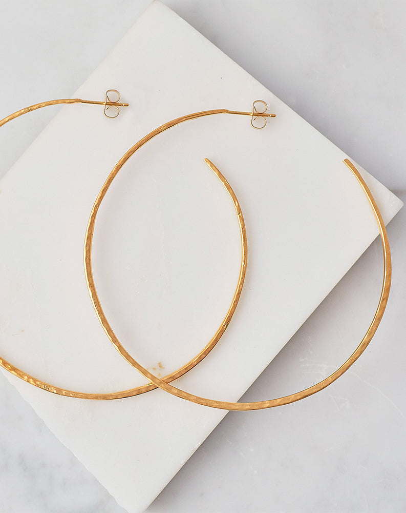Classico Grande Hoop in 14K Gold Plated