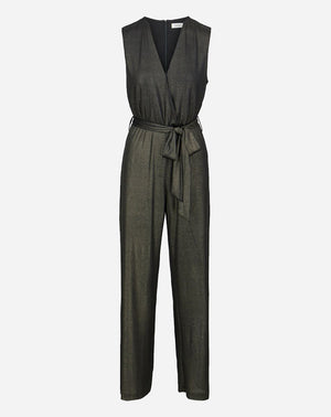 Mara Jumpsuit in Black Metallic