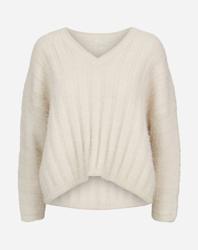 Stella Ribbed Sweater in Porcelain