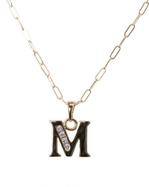 Block Initial Necklace in 14k Gold Filled
