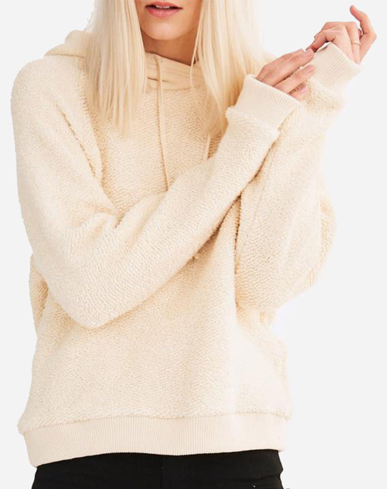 Addison Long Sleeve Hoodie in Natural