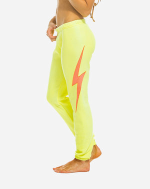 Bolt Stitch Sweatpants in Neon Yellow