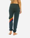 Chevron Sweatpant in Charcoal