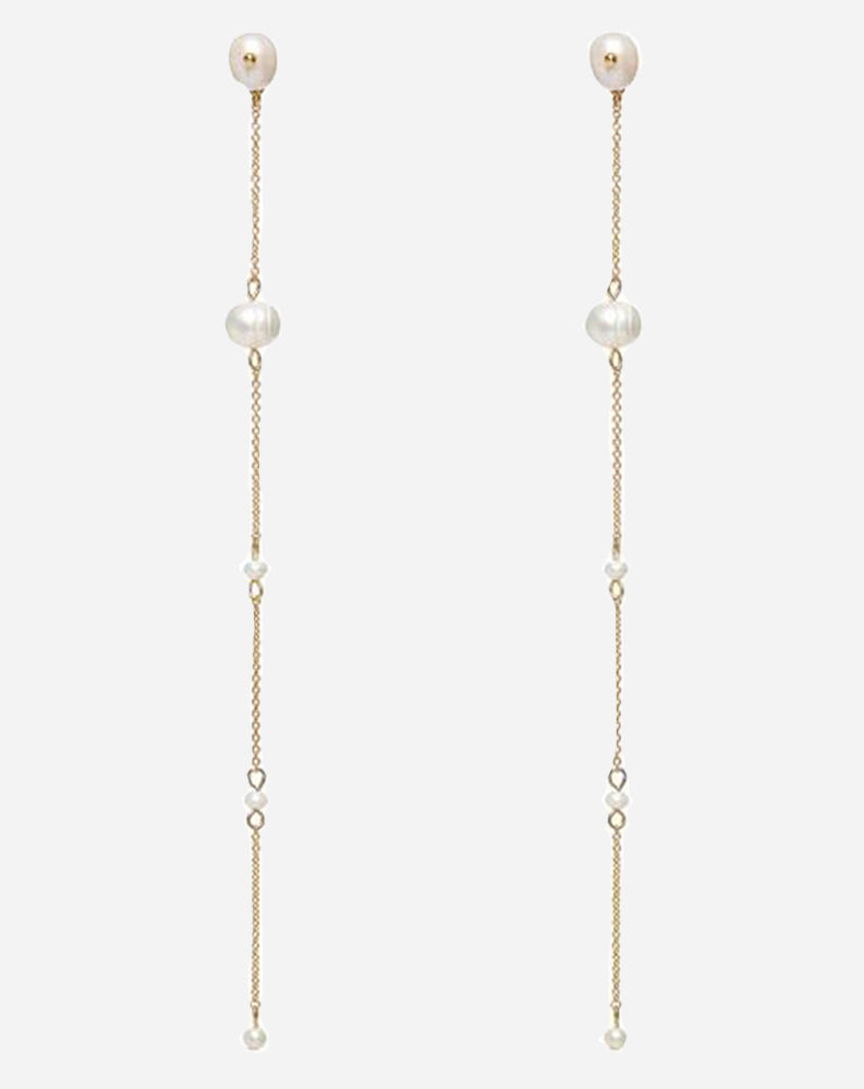 The Baroque Pearl Drop Earrings
