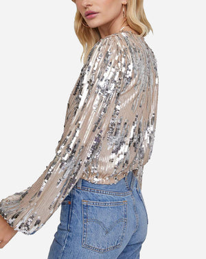 Primadonna Top in Champagne Sequin