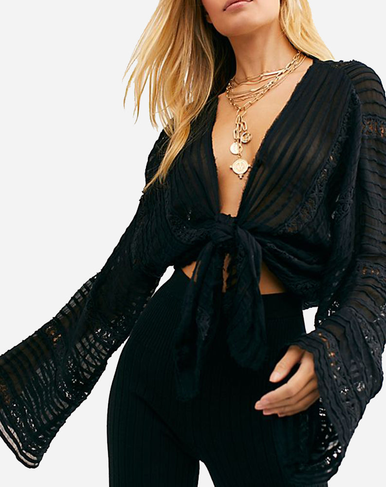 Willows Kimono in Black