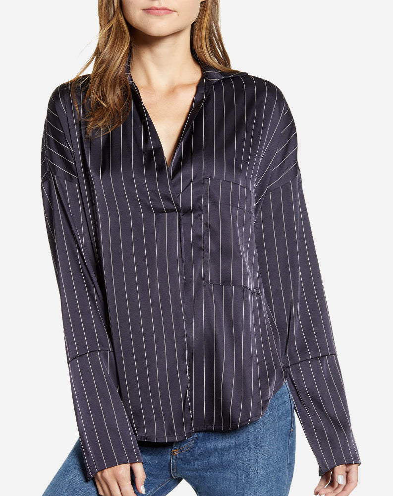Amelia Top in Navy Stripe