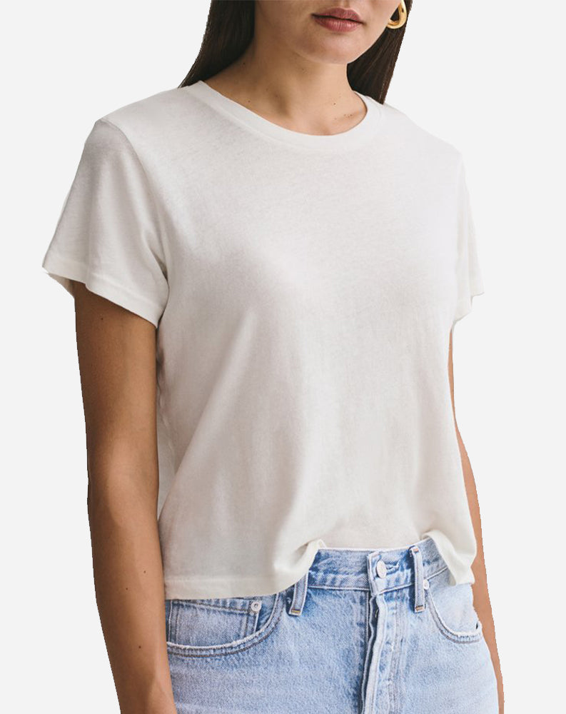 Linda Boxy Tee in Tissue