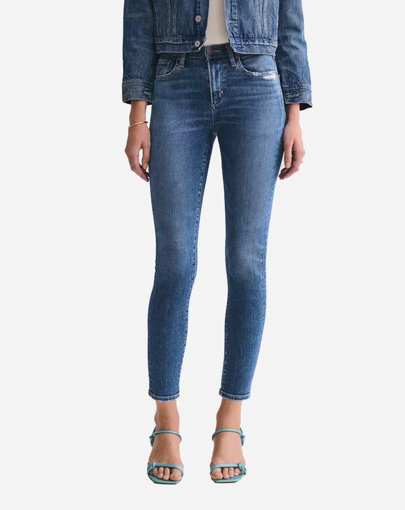 Sophie Mid Rise Ankle Skinny in Tame