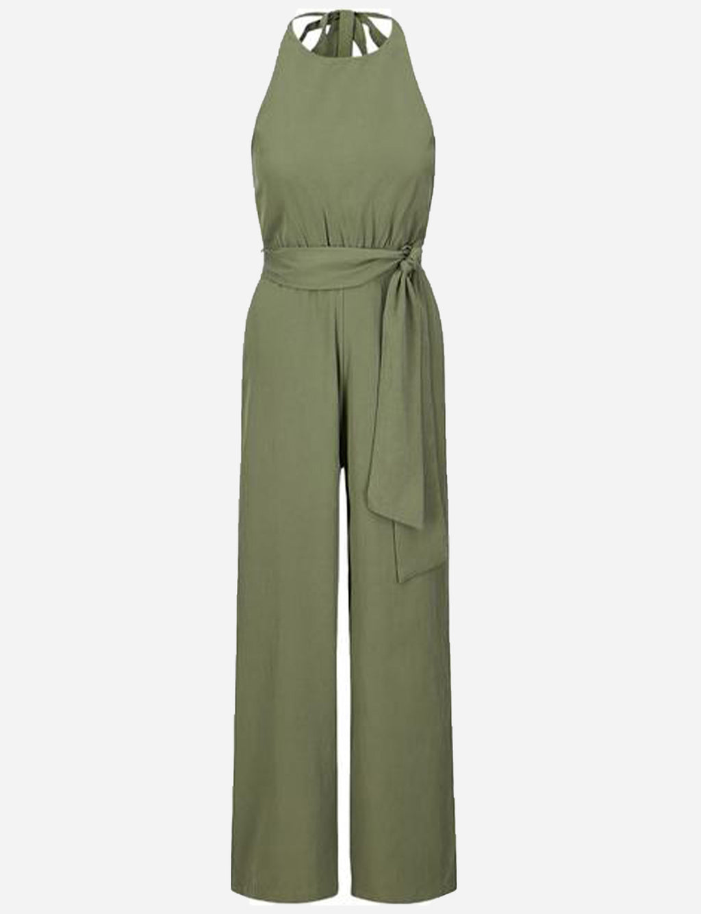 Margot Halter Jumpsuit in Olive